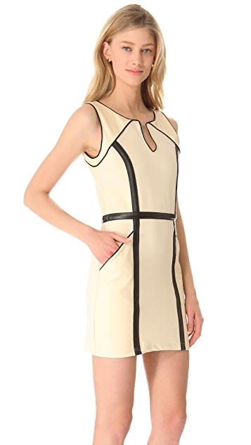 Sheri Bodell Titus Paneled Shift Dress