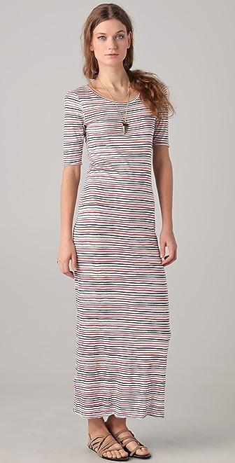 Shine Board Striped Maxi Dress