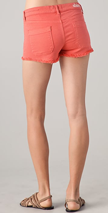 Shine Jane Rhythmic Denim Shorts