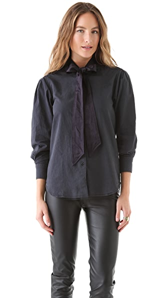Shine Priscilla Frip Denim Shirt