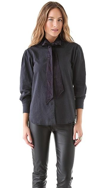 Shine Priscilla Frip Denim Shirt
