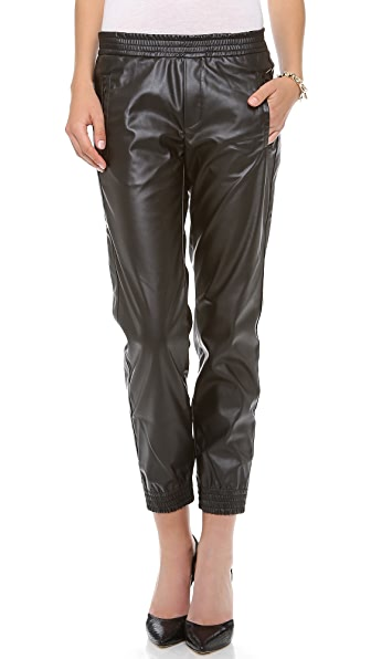 Shine Miller Faux Leather Pants