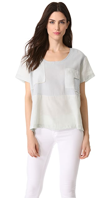 Shona Joy Chambray Patchwork Tee