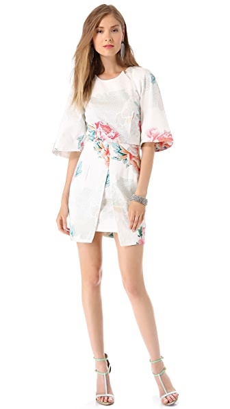 Shona Joy Winters Bloom Bell Sleeve Dress