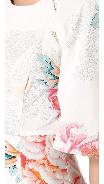 Shona Joy Winters Bloom Bell Sleeve Dress