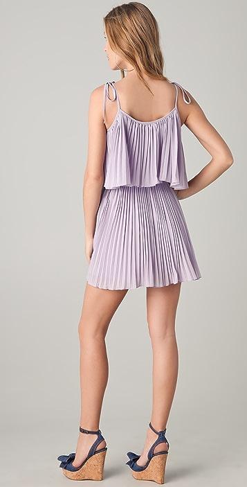 6 Shore Road Gibson Pleated Mini Dress