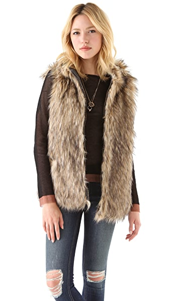 6 Shore Road by Pooja Reversible Faux Fur Vest