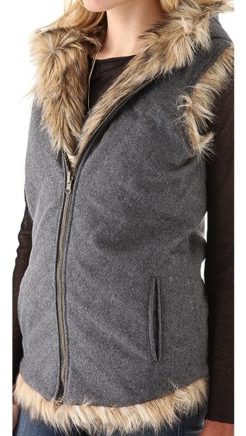 6 Shore Road Reversible Faux Fur Vest