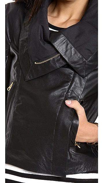 6 Shore Road Chloe Leather Moto Jacket