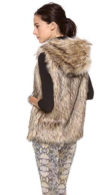 6 Shore Road Hopi Reversible Faux Fur Vest