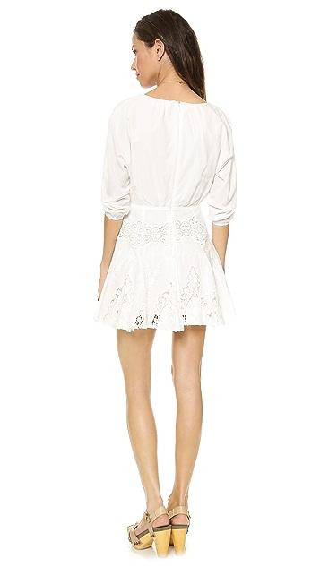 6 Shore Road White Flower Lace Cutout Mini Dress
