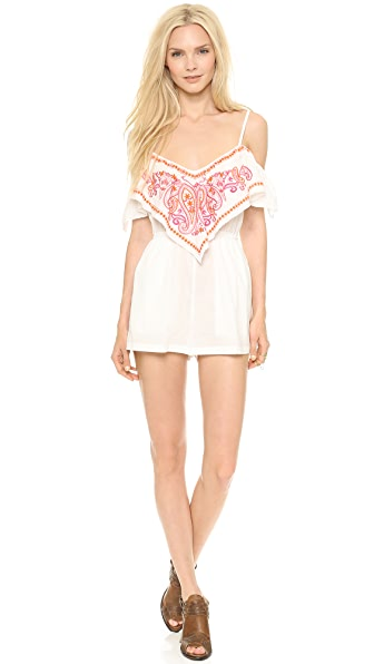 6 Shore Road by Pooja Embroidered Picnic Romper