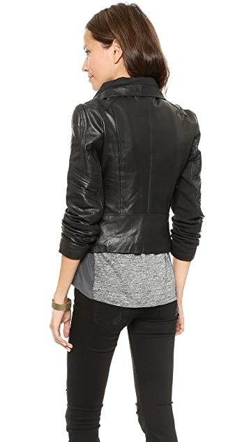 6 Shore Road Chole Leather Moto Jacket