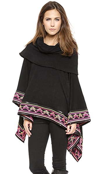 6 Shore Road by Pooja Deserts Embroided Poncho