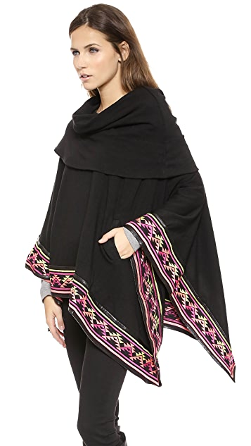6 Shore Road Deserts Embroided Poncho