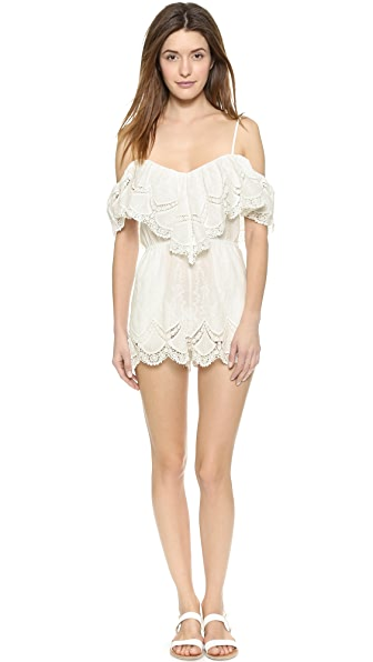 6 Shore Road by Pooja Saturdays Lace Romper