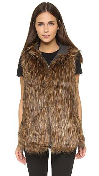 6 Shore Road By Pooja Hopi Reversible Faux Fur Vest - Fur