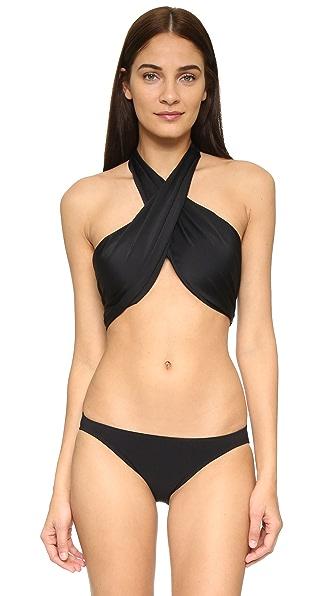 6 Shore Road Bocas Bikini Top In Black Rock