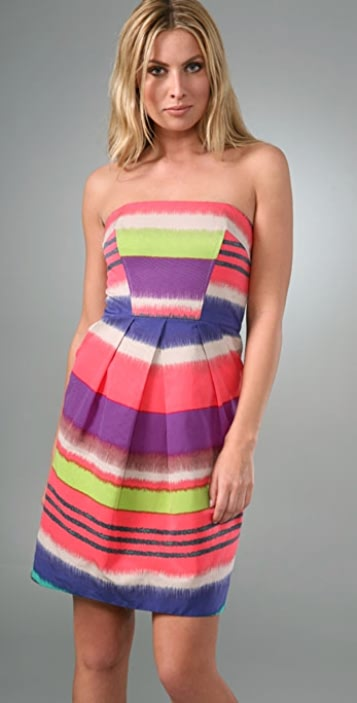 Shoshanna Serrapi Strapless Dress