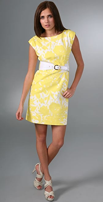 Shoshanna Cutout Daisy Belted Dress