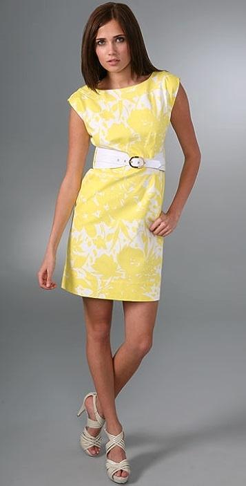 Shoshanna Cutout Daisy Belted Dress
