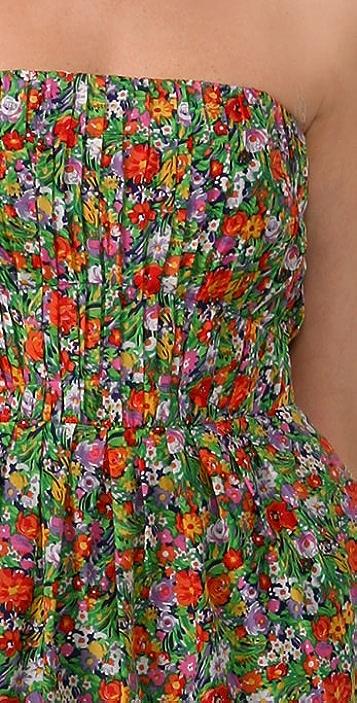 Shoshanna Summer Garden Strapless Dress