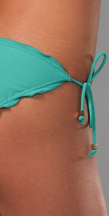 Shoshanna Solid String Bikini Bottoms