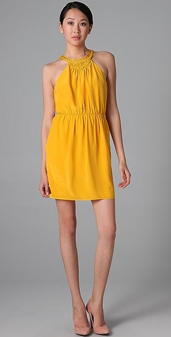 Shoshanna Beaded Neck Dress