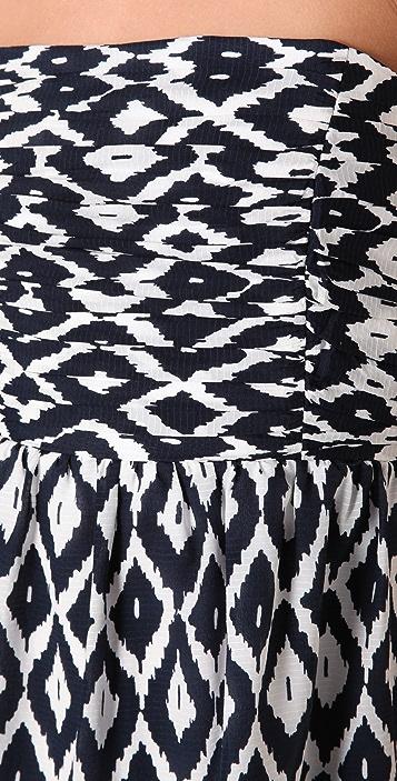 Shoshanna Ruched Strapless Mini Dress