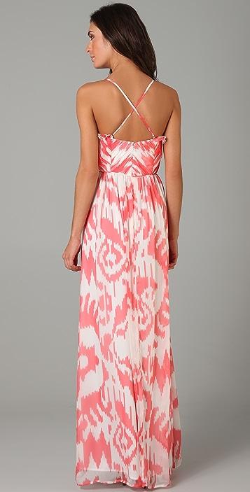 Shoshanna Ruched Long Dress