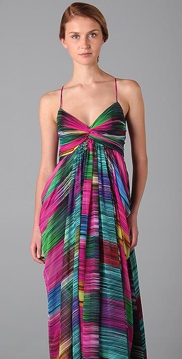 Shoshanna Sunset Stripe Maxi Dress