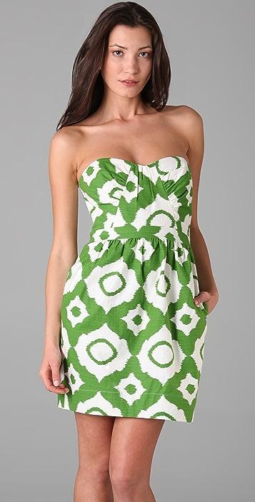 Shoshanna Gathered Bodice Dress