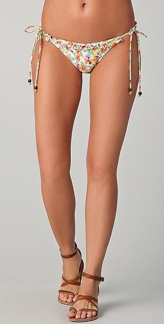 Shoshanna Pansy Garden Ruffle Bikini Bottoms
