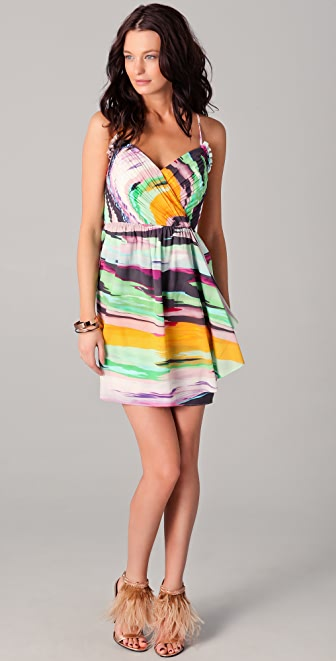 Shoshanna Serena Draped Front Dress