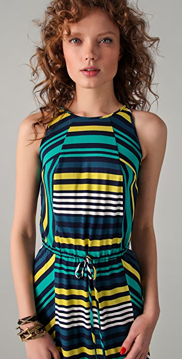 Shoshanna Cassie Striped Maxi Dress