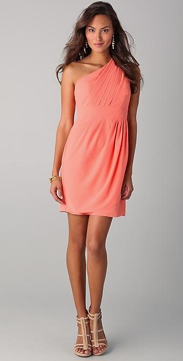 Shoshanna Melanee One Shoulder Dress