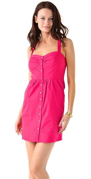Shoshanna Bea Button Front Dress