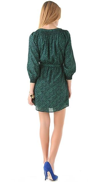 Shoshanna Taryn 3/4 Sleeve Printed Dress