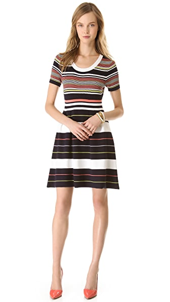 Shoshanna Striped Ilana Dress