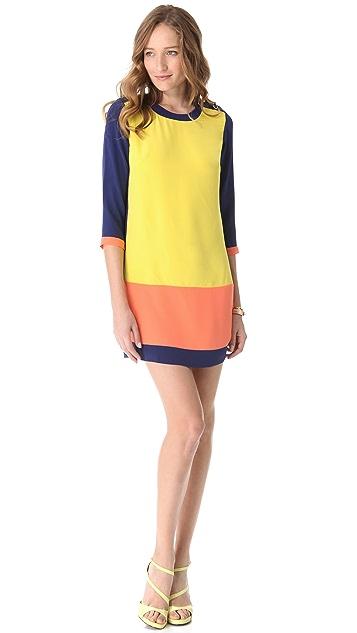 Shoshanna Caitlin Combo Dress