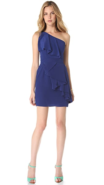 Shoshanna Sadie One Shoulder Dress