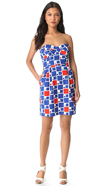 Shoshanna Reilly Strapless Print Dress
