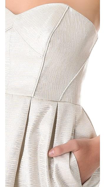 Shoshanna Jane Metallic Jacquard Dress
