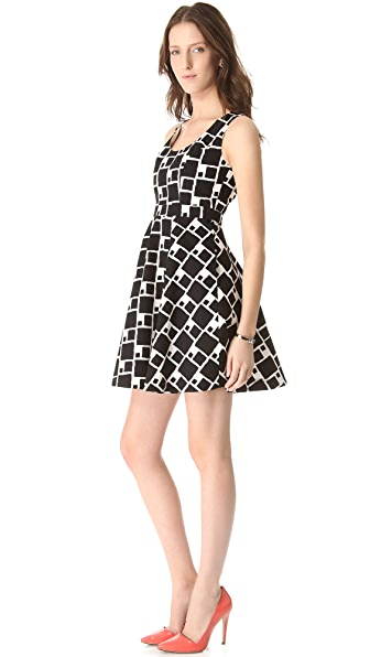Shoshanna Sabrina Print Dress