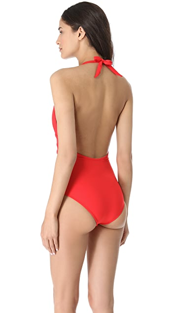 Shoshanna Persimmon One Piece Swimsuit