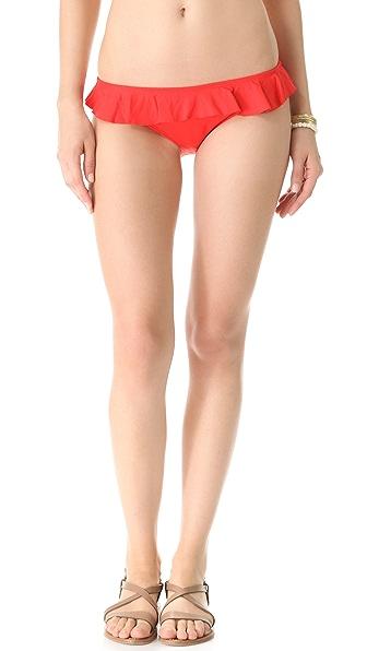 Shoshanna Persimmon Ruffle Bikini Bottoms