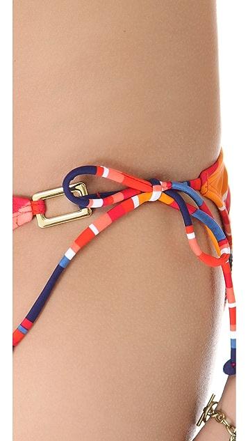 Shoshanna Cape Town Striped Bikini Bottoms