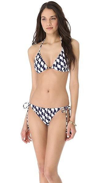 Shoshanna Buoy Print Triangle Bikini Top