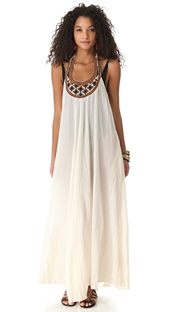 Shoshanna Geo Embroidered Cover Up Maxi Dress