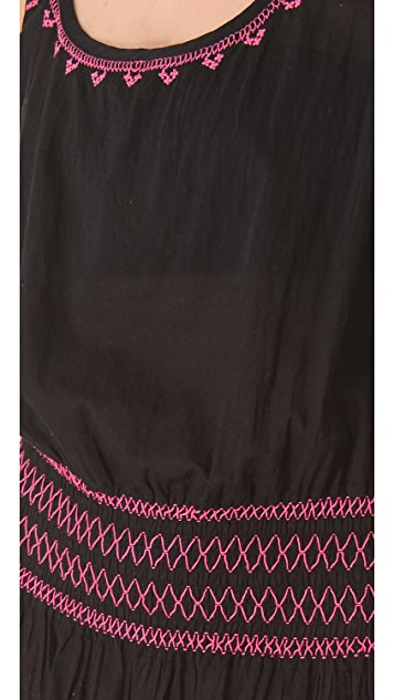 Shoshanna Geo Embroidered Cover Up Dress